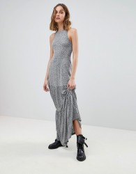AllSaints Maxi Dress in Melange - Black