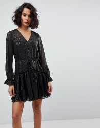 AllSaints Metallic Mini Dress - Black