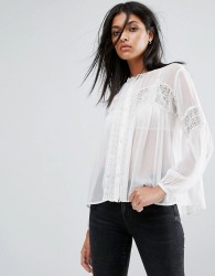AllSaints Pinto Sheer Shirt - White