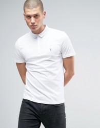AllSaints Polo Shirt with Branding - White