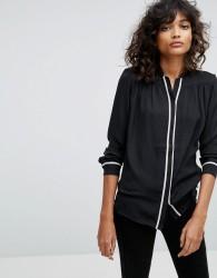 AllSaints Rica Pyjama Shirt - Black