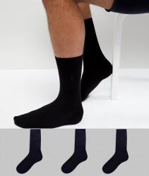 AllSaints Rue Socks 3 Pack - Black