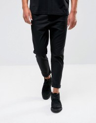 AllSaints Slim Fit Cropped Trouser - Black