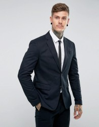 AllSaints Slim Fit Suit Blazer - Navy