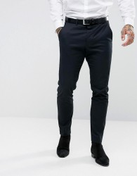 AllSaints Slim Fit Suit Trouser - Navy