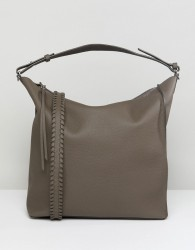 AllSaints Slouchy Leather Tote Bag - Grey