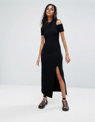 AllSaints Soraia Dress with Cold Shoulder - Black