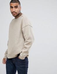 AllSaints Sweatshirt In Soft Touch Jersey - Beige