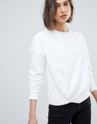 AllSaints Sweatshirt with Knot Front - White
