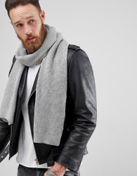 AllSaints Trias Scarf In Light Grey - Grey