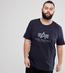 Alpha Industries Logo T-Shirt In Navy - Navy