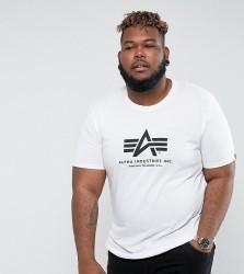 Alpha Industries PLUS Logo T-Shirt Regular Fit in White - White