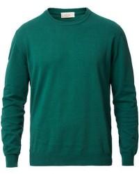 Altea Cotton Crew Neck Sweater Pine Green men L Grøn