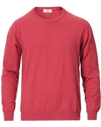 Altea Cotton Crew Neck Sweater Rouge men XXL Pink