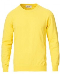Altea Cotton Crew Neck Sweater Yellow men S Gul