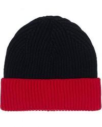 Altea Two Tone Wool Beanie Navy/Red men One size Blå,Rød