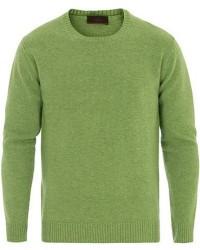 Altea Virgin Wool Crew Neck Sweater Light Green men M