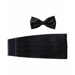 Amanda Christensen Cummerbund Set Black