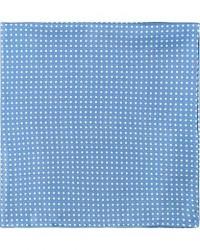 Amanda Christensen Handkerchief Dot Silk Sky Blue men One size Blå