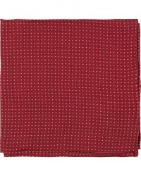 Amanda Christensen Handkerchief Dot Silk Wine Red men One size Rød