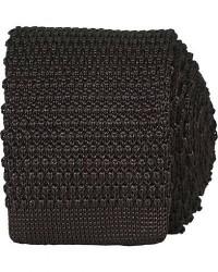 Amanda Christensen Knitted Silk Tie 6 cm Brown men One size Brun