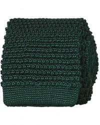 Amanda Christensen Knitted Silk Tie 6 cm Green men One size Grøn