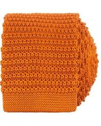 Amanda Christensen Knitted Silk Tie 6 cm Orange men One size Orange