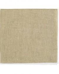 Amanda Christensen Linen Melange Handrolled Pocket Square White/Olive men One size Grøn