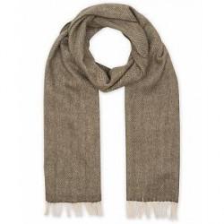 Amanda Christensen Merino Wool Herringbone Scarf Green