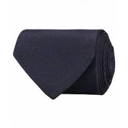 Amanda Christensen Plain Classic Satin Tie 8cm Navy