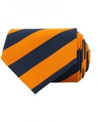 Amanda Christensen Regemental Stripe Classic Tie 8 cm Orange/Navy men One size Orange,Blå