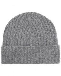 Amanda Christensen Rib Knitted Cashmere Cap Grey men One size Grå