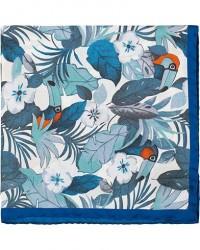 Amanda Christensen Silk Twill Printed Jungle Pocket Square Blue men One size Blå