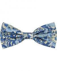 Amanda Christensen Silk Twill Printed Large Flower Bow Tie Navy men One size Blå