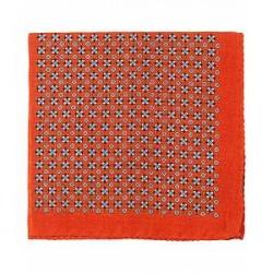 Amanda Christensen Wool 4-Face Pocket Square Orange
