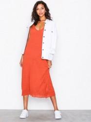 American Vintage Robe Fines Bretelles Col P2 Loose fit dresses Rust
