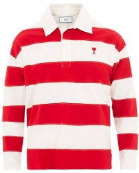 AMI Rugby Sweater White/Red men L
