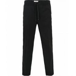 AMI Wool Drawstring Trousers Black