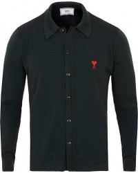 AMI Wool Shirt Cardigan Dark Green men S