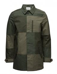 Ams Blauw Clean Trench Coat