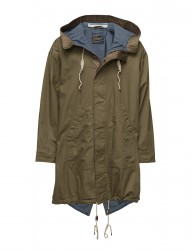 Ams Blauw Oversized Utility Parka With Blanket And Chambray