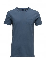 Ams Blauw Regular Fit Tee In Autumn Colours With Wash Effect