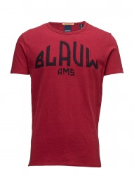 Ams Blauw Signature Printed Tee In Regular Fit With Relaxed