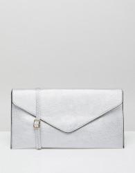 Amy Lynn Foldover Clutch Bag - Silver