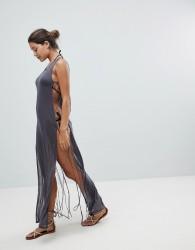 And Co Sheer Beach Dress - Black