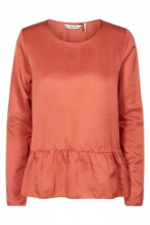 And Less - Bluse - Oerebro Blouse - Dusty Cedar