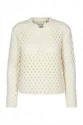 And Less - Strik - MalmFreddy Pullover - Whisper White