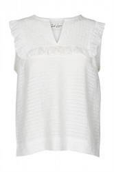 And Less - Top - Sundew Blouse - Brilliant White