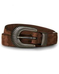 Anderson's Calf Nubuck 2,5 cm Buckle Belt Dark Brown men 90 Brun