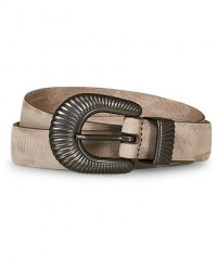 Anderson's Calf Nubuck 2,5 cm Buckle Belt Soft Grey men 105 Grå